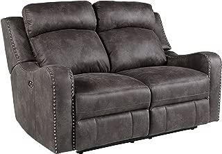 Standard Furniture 4148433 Bankston Loveseat with Manual Motion, Grey