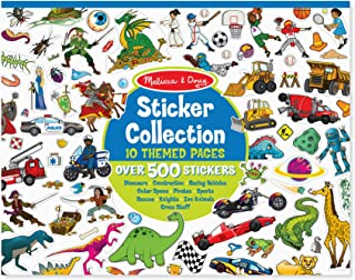 Melissa & Doug Sticker Collection Book, Arts & Crafts, Dinosaurs, Vehicles, Space, and More (500+ Stickers)