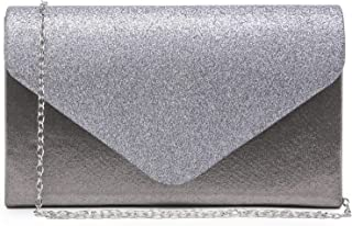Silver Evening Hand Bag//Clutch Soft Rich Feel Closeout  Price Only $9.99  New!!