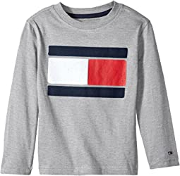 Tommy Hilfiger Kids - Tommy Flag-Bex Jersey Long Sleeve Tee (Big Kids)