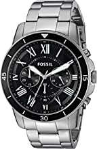Fossil Men's 44mm Grant Sport Chronograph Stainless Steel Watch