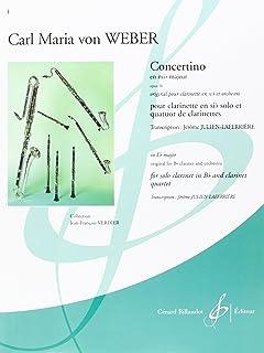 Concertino en Mi B Majeur Opus 26 (4 CLARINETTES ET QUATUORS DE CLARINETTES)