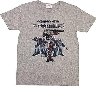 トランスフォーマー【国内公式監修】Tシャツ ディセプティコン集合80' ver. (XS, メランジグレー)