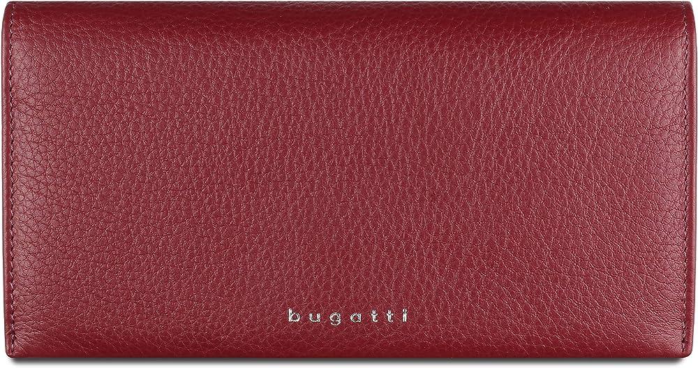 Bugatti lady top portafoglio in vera pelle porta carte di credito per donna in vera pelle 496100-16