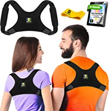 Back Posture Corrector for Women and Men - Shoulder Brace Back Posture Corrector - Upper Back Support - Back Straightener Posture Corrector - Resistance Band Included (Regular)