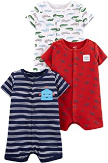 Baby Boys' 3-Pack Snap-up Rompers