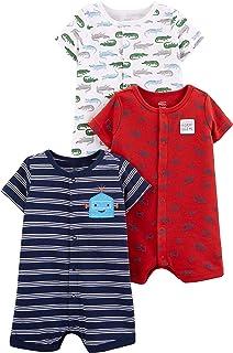 شادی های ساده توسط کارتر's Baby Boys '3 Pack Snap-up Rompers