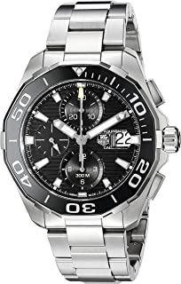 TAG Heuer Mens CAY211A.BA0927 Aquaracr Analog Display Swiss Automatic Silver Watch