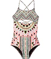 Hobie Kids - Festival of Brights Lace Back One-Piece (Big Kids)