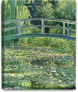 DECORARTS - The Japanese Bridge (The Water-Lily Pond) by Claude Monet Oil Painting Reproduction Giclee Print on 100% Cotton Canvas Wall Art for Home Decor and Wall Decor 16x20