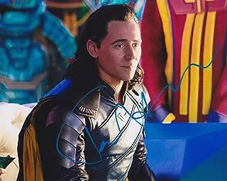 Tom Hiddleston signed Loki Thor 8x10 photo