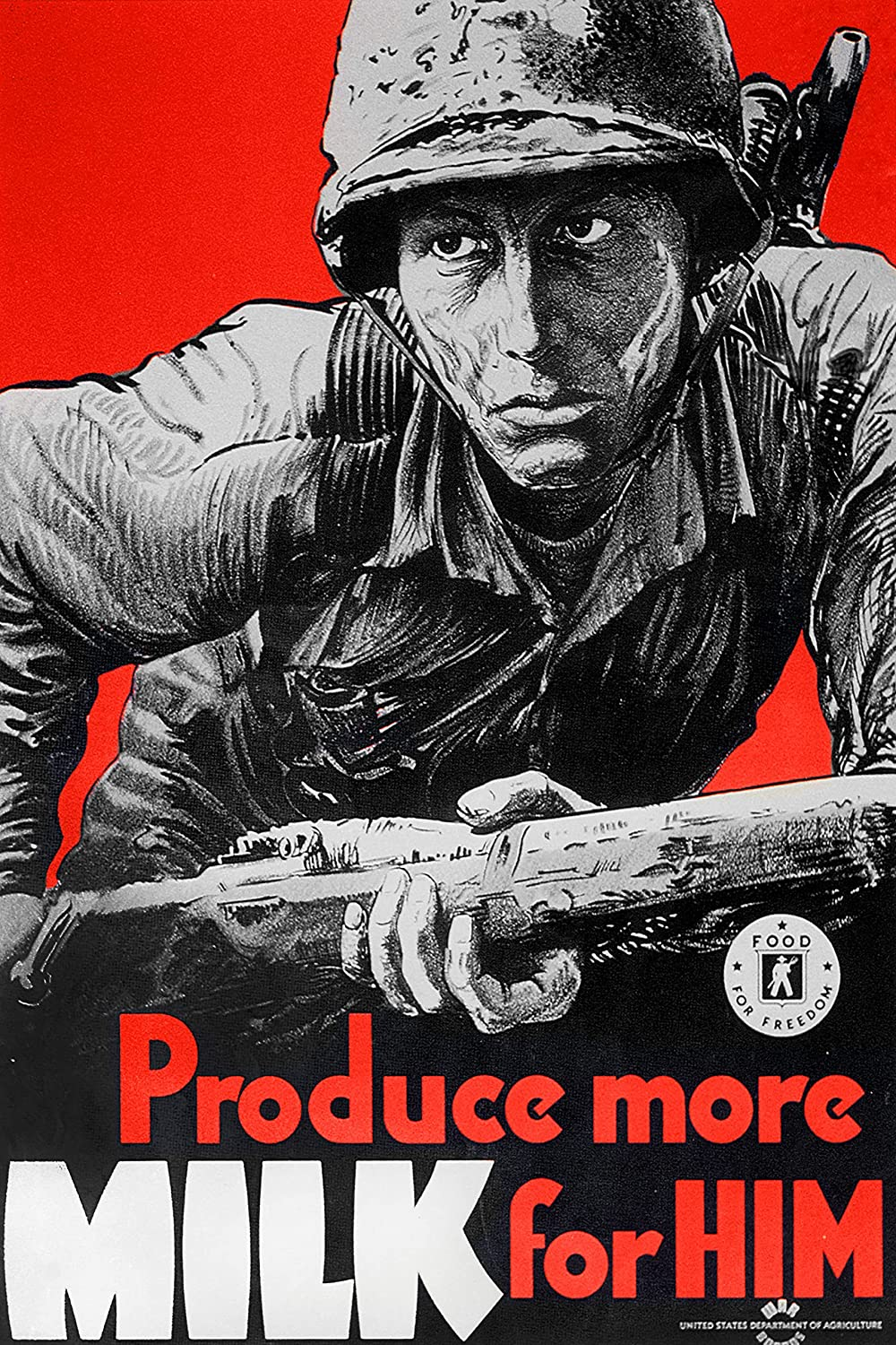 American WW2 Propaganda Poster - Produce free Him More Our shop most popular Milk Foo for