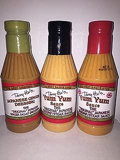 Terry Ho's Japanese Variety Pack Japanese Ginger Dressing,Yum Yum Original Sauce and Yum Yum Hot Sauce