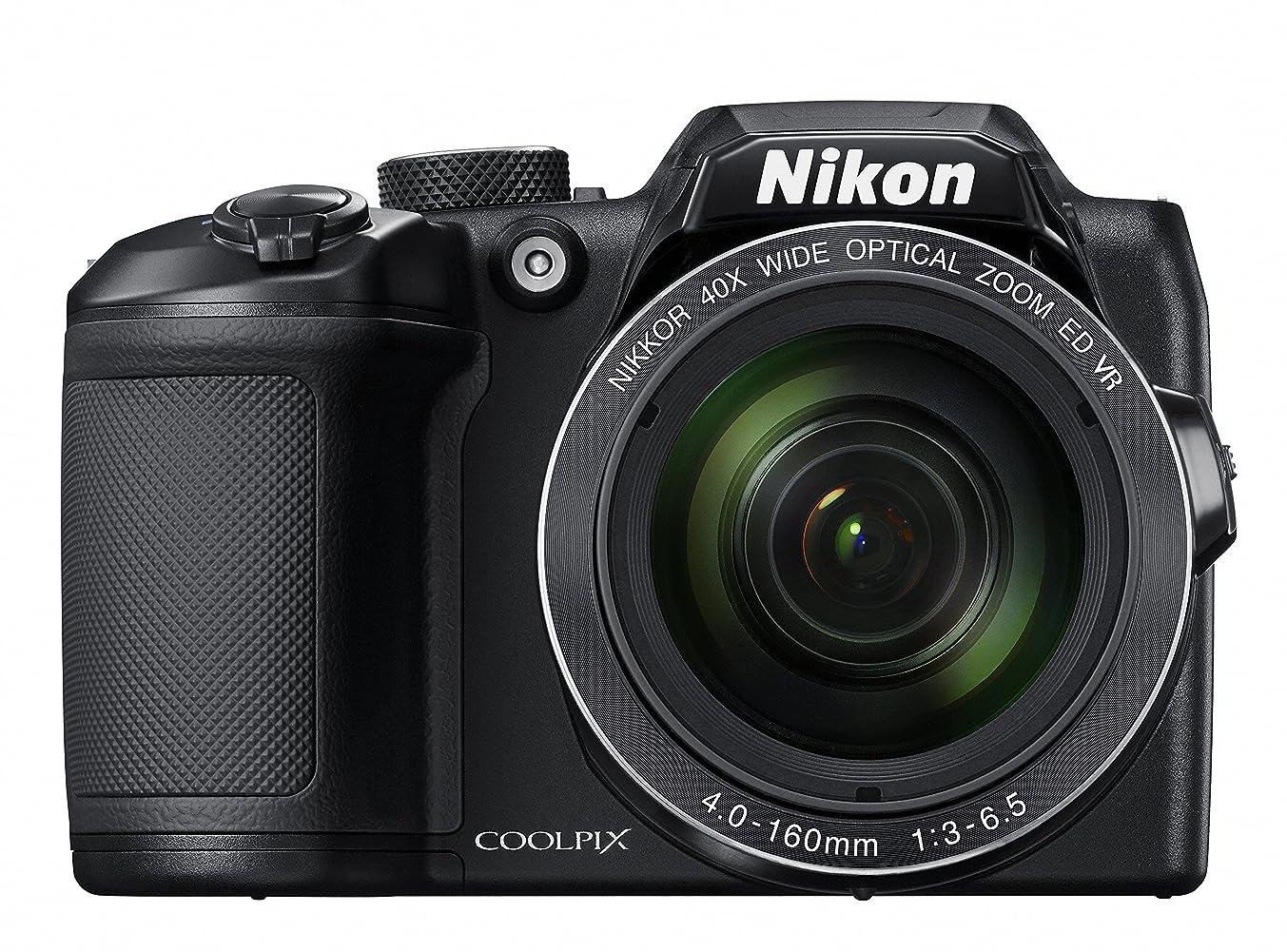 腹部骨髄驚いたことにNikon デジタルカメラ COOLPIX B500 光学40倍ズーム 1602万画素 単三電池 ブラック B500BK