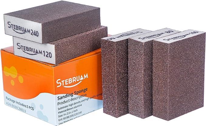 209 opinioni per Spugne AbrasivSpugne Abrasive,5 grane diverse 60/80/100/120/240 Utilizzato per