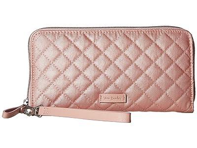 Vera Bradley Iconic RFID Accordion Wristlet (Rose Quartz) Wristlet Handbags