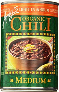 Amy's Light in Sodium Organic Chili,  Medium, 14.7 Ounce (Pack of 6)
