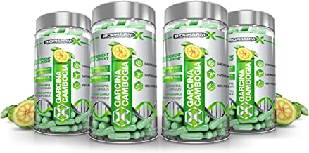 x4 Garcinia Cambogia Top Strength Diet Weight Loss Pills with Pure Garcinia Cambogia 600mg Per Daily Dose 240 Capsules 4 Month Supply Estimated Price : £ 26,29