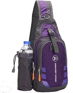 Sling Bag backpack Outdoor Shoulder Waterproof Unbalance Crossbody Bag Chest Pack Bike Purple