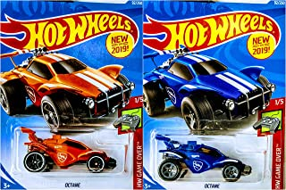 Hot Wheels 2019 Octane 92/250 Orange and Blue 2 Car Set Bundle
