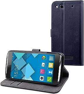 Muvit MUSLI0614 Slim S-View Folio Case for Alcatel One Touch Idol Alpha Black