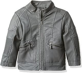 Urban Republic Baby Boys Texture Faux Leather Moto Jacket