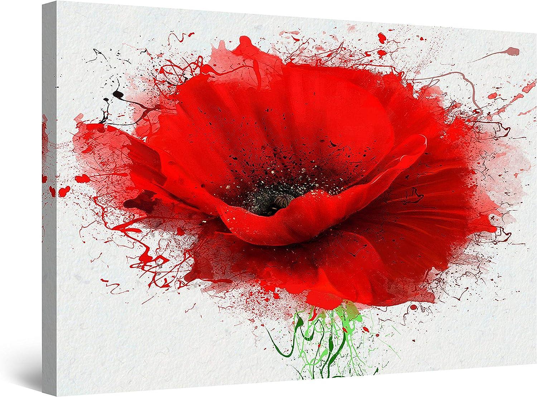 Startonight Cuadro Moderno en Lienzo Pintura Naturaleza, Flores Rojas de Amapola, para Salon Decoración Grande 80 x 120 cm