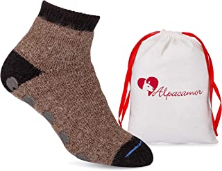 Cozy Alpaca Slipper Socks with Rubber Anti-Slip Grips