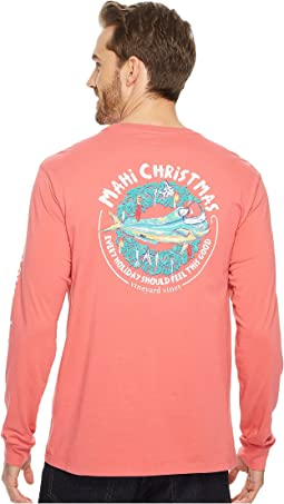 Vineyard Vines - Long Sleeve Mahi Christmas Pocket Tee