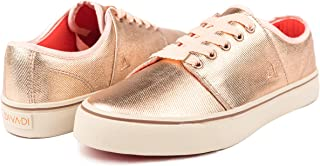 DIVADI Vegan Fashion Sneaker for Women - Flat Lace-up...