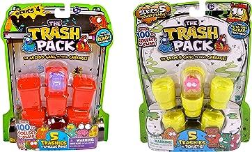 Trash Packs The Series 4 Wheelie Bins with 5 Trashies & Series 5 Sewer Trash Toilets with 5 Trashies