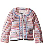 Karl Lagerfeld Kids - Tweed Jacket w/ Fringe and Black Trim (Toddler)