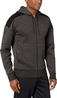 Peak Velocity Men's Middleweight Fleece Full-Zip Loose-fit Hoodie