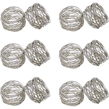 Silver Set of 4 Handcrafted Hanukkah Metal Napkin Rings for Wedding Party Decoration Dinning Table Occasion Everyday Family Gatherings A Beautiful Emphasize to Your Dining Table d/écor