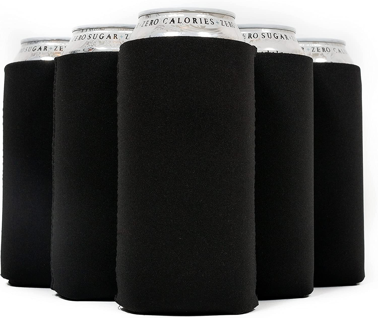 QualityPerfection 6 Black Can Cooler - Blank Sleeves High Bombing free shipping order Neoprene Be