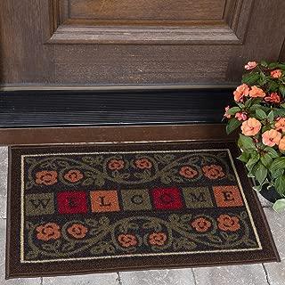 Ottomanson Ottohome Collection Rectangular Welcome Doormat (Machine-Washable/Non-Slip), Multicolor, 20