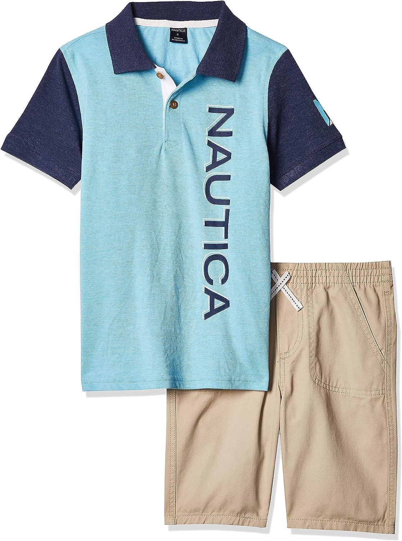 Nautica baby-boys 2 Pieces Polo Shorts Set