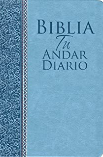 Biblia Tu Andar Diario Piel ESP. Color Azul Marino: Your Daily Walk Bible Bonded Leather Navy Blue (Spanish Edition)