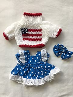 Teddy Bear/Doll Sweater Clothes Dress Outfits Small Size- 2 Pieces Set