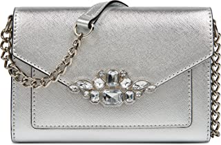 Aleksei w/Jewels Crossbody Bag Silver