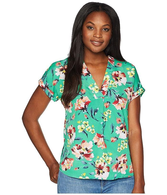 c9b6ca6678 LAUREN Ralph Lauren Floral-Print Crepe V-Neck Top at 6pm