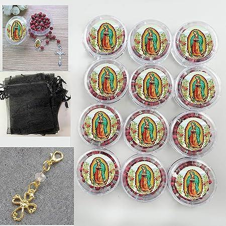 12pcs Funeral Favormemorial favor Rosaries giftR.I.P Condolence D.E.P personalized ribbons  Recuerdos Para Funeral