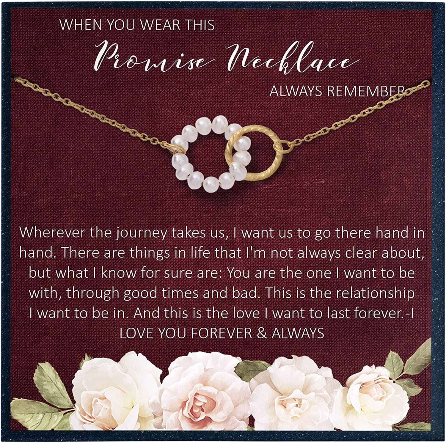 Grace of sold out Pearl Promise Necklace Girlfriend gift Boyfriend for from to