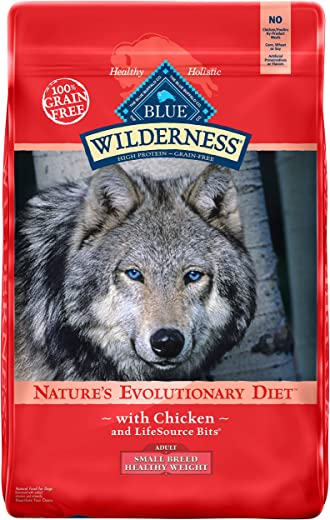 Blue Buffalo Wilderness High Protein, Natural Adult Small Breed Healthy Weight Dry Dog Food, Chicken