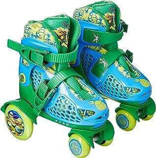 PlayWheels Teenage Mutant Ninja Turtles Kids Big Wheel Quad Roller Skates - Junior Size 6-9