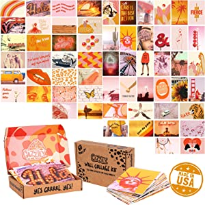 CAZZILY Teen Girl Wall Decor with 60pcs 4x6 Aesthetic Pictures - Dorm Decor for College Girls Aesthetic Wall Collage Kit - Inspirational Quotes Wall Art for Teenage Girls - Positive Teenage Girl Gifts