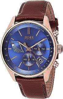 Hugo Boss Mens Quartz Watch, Chronograph Display and Leather Strap 1513604