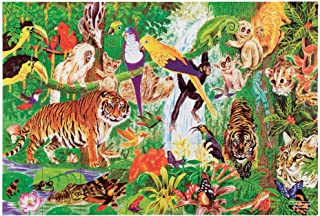 "Melissa & Doug Rainforest Floor Puzzle (Easy-Clean Surface, Promotes Hand-Eye Coordination, 48 Pieces, 24"" L x 36"" W, Great Gift for Girls and Boys - Best for 3, 4, 5, and 6 Year Olds)"