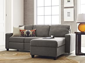 Serta Palisades Reclining Sectional with Right Storage Chaise - Gray