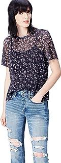 comprar comparacion Marca Amazon - find. Blusa de Encaje Plisado para Mujer